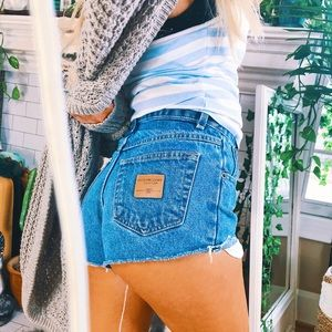 Pants - [Size 0] High Waisted Distressed Shorts B102